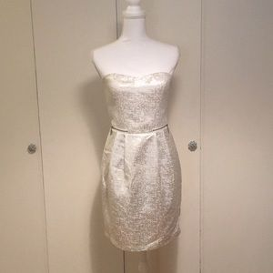 Lucca Couture - white and silver cocktail dress 👗